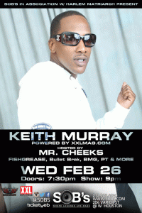 Events: SOB's In Association w/ Harlem Matriarch present: Keith Murray - http://t.co/ZS7Ol4PVOh #NYCLOUTEVENTS http://t.co/XlKxXUiHvq