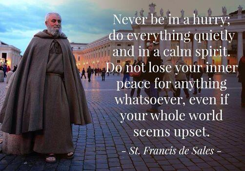 """""""Never be in a hurry; do everything quietly and in a calm spirit, do not lose your inner peace for anything..."""" http://t.co/O8DbiQFQuE"""