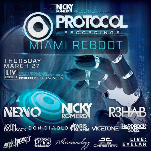 We're happy to be attending @NickyRomero Presents: @ProtocolRec 'Miami Reboot' on Mar 27! Tix: http://t.co/UEnH8OTWyn http://t.co/zuSWVzVUWZ