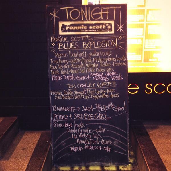 Le programme du soir au Ronnie Scott's Jazz Club