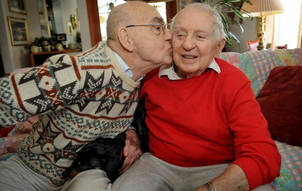 ICYMI: After 53 yrs, Joe & Ramon finally celebrated their very first married Valentine's Day! http://t.co/repgx2OwZk http://t.co/vq4vYWzTNx