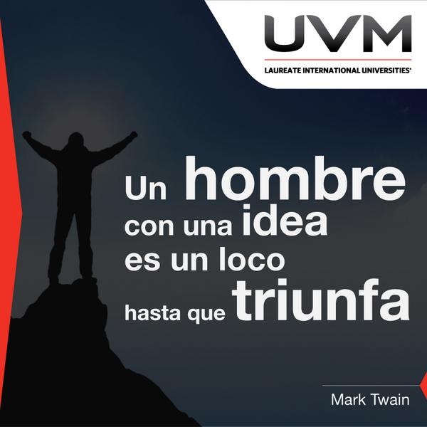 """""""Un hombre con una idea es un loco hasta que triunfa""""  Mark Twain http://t.co/lfwGy7af98"""
