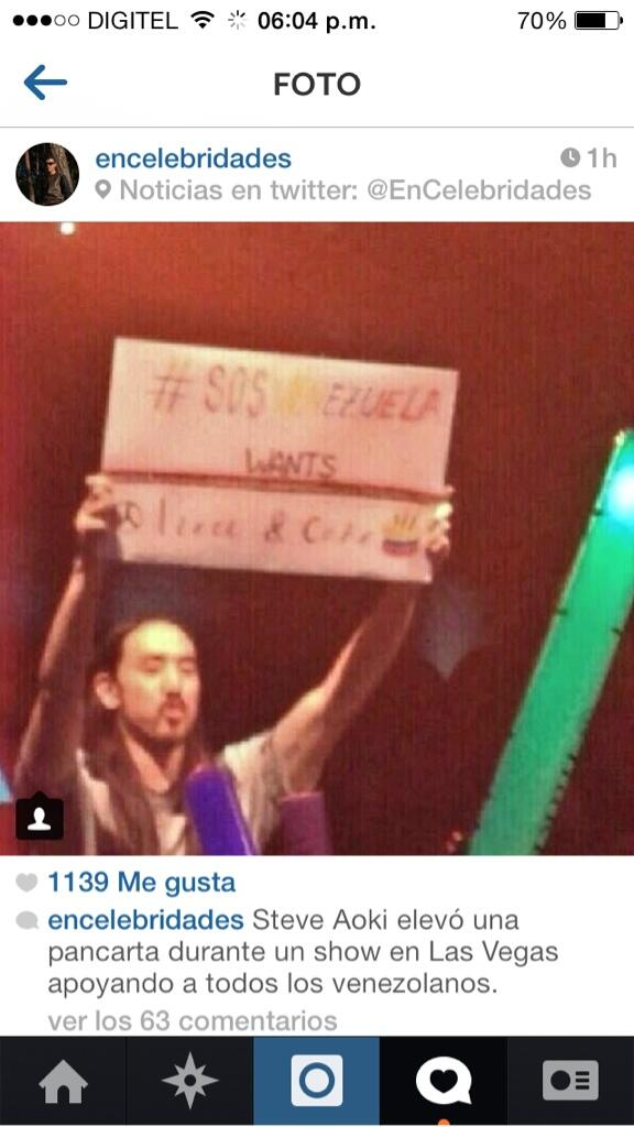 Thank you for your prayers and support @steveaoki! We love you ❤️ http://t.co/aMlsDXhSgO #SOSVenezuela http://t.co/AmGVNNx2me