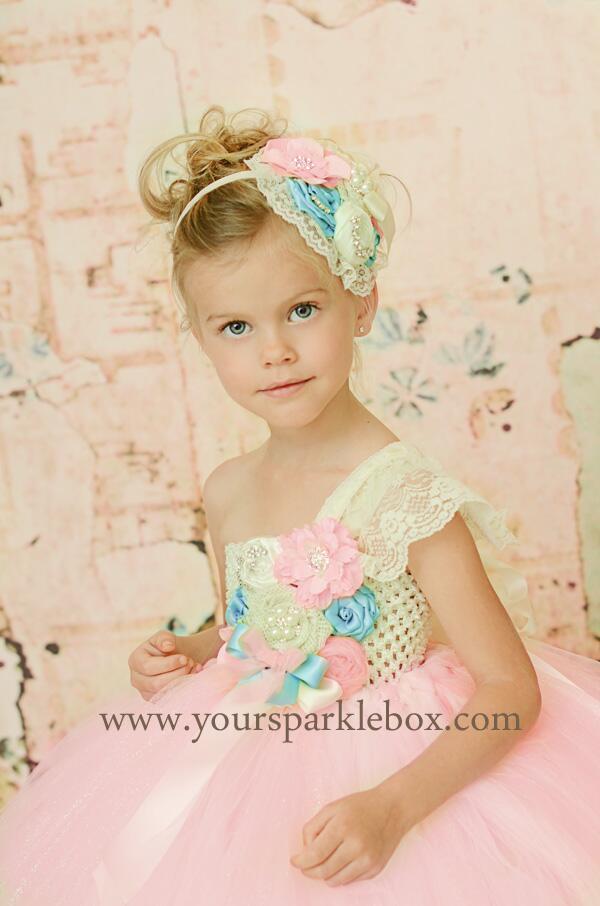 257cfcea7 #Spring #Pink #Blue #wedding #Flowergirl #tutudress http://yoursparklebox .com/item_133/Petal-Pink-and-Turquoise-Vintage-Beauty-Tutu-Dress.htm … ...