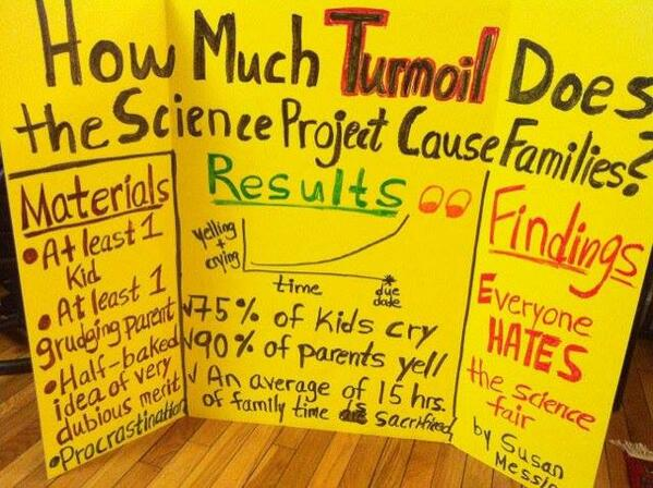 How much turmoil does the science project cause families? http://t.co/ECnOf5KZXv