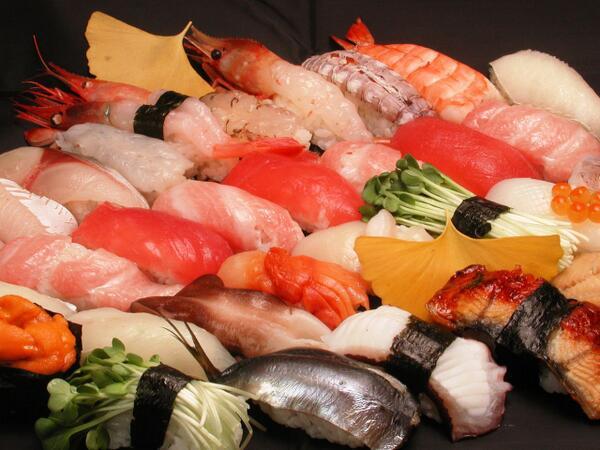 色んな美味しそうなお寿司画像