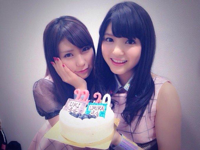 きのう私の出身地の埼玉テレビの収録がありまして……にゃんと!!!誕生日祝っていただきました( ; _ ; )/~~~びっくり嬉しい!ありがとうございました! #umika #9nin http://t