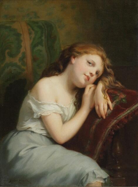 「小さなレディーの肖像」制作年不明フリッツ・ツバー=ビューラーFritz Zuber-Buhler, Portrait of a Young Lady