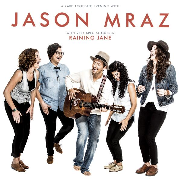 Announcing a rare acoustic evening with @jason_mraz and very special guests @RainingJane! http://t.co/PhoGong7HF http://t.co/H24xsSh6OY