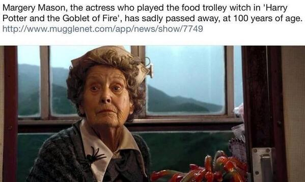 Retweet to pay tribute to this woman. #RIPMargery http://t.co/hbFyirxOoj