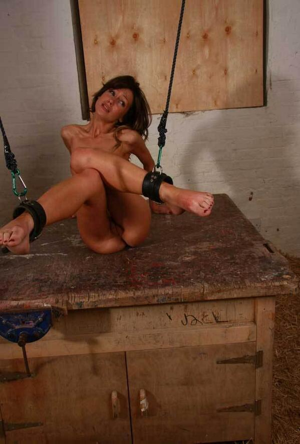 Skinny White Girl Tied Up And Tortured By Her Master