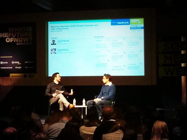 Watching @peretti give a keynote at #SMWNYC http://t.co/j7nfvLig4P