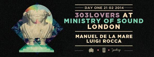 This friday at Ministry of Sound London with @LuigiRocca @303Lovers http://t.co/MDnBxTxg5D