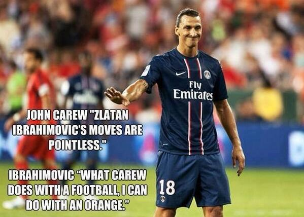 Football Quotes On Twitter Theres Only One Zlatan Httptco