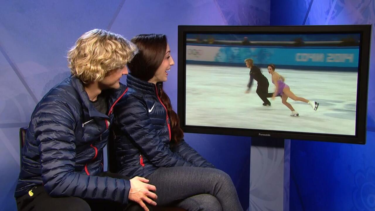 Nbc olympics on twitter quot charlieawhite and meryl davis watch their