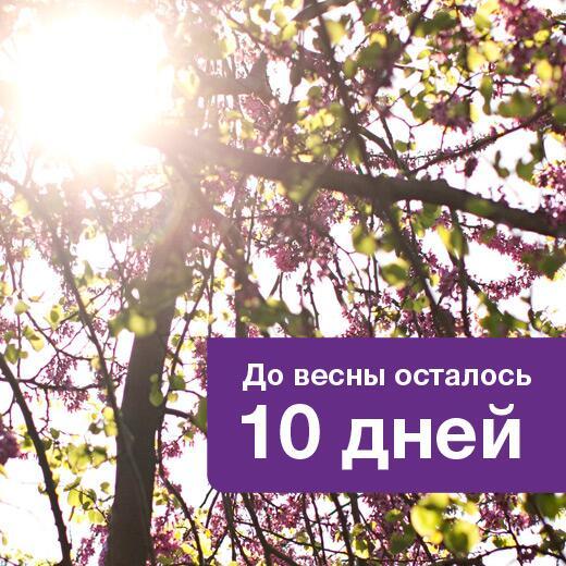Картинки десять дней до весны