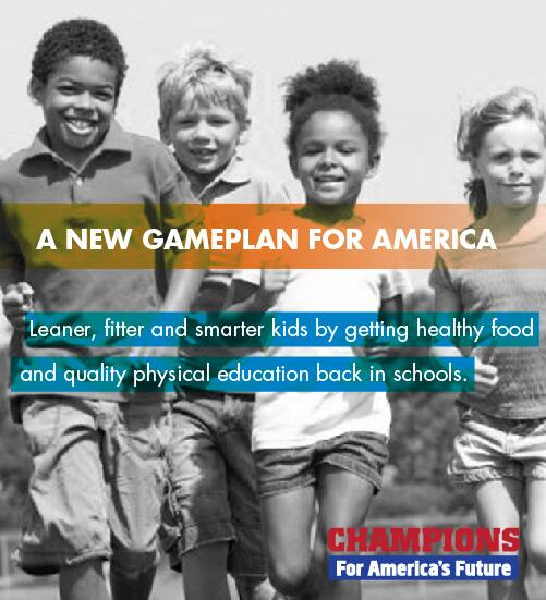 A new game plan for America: making sure every school provides healthy food & quality PE. #NNMforKids http://t.co/Iwa2a0JSzw