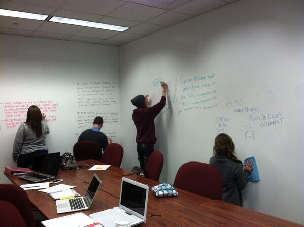 #literacies RT @smkastner: Wish you could write on all classroom walls! #msulibraries http://t.co/5MenlvWTuY