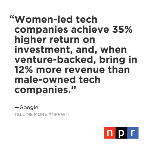 Some good news from @Google #WomenInTech #NPRWIT  http://t.co/jTErs6MVee http://t.co/zcNRyEa0Pw