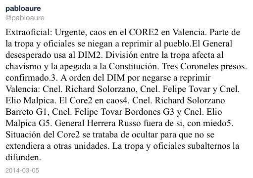 #megatrancaconcarros5M se sublevan core2 de valencia http://t.co/cGjU4rP9WN