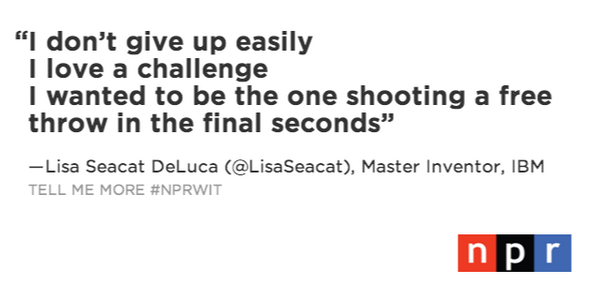 With 115 patents issued, @LisaSeacat holds more patents than any other woman in @IBM's history #NPRWIT http://t.co/IY5841PAiU