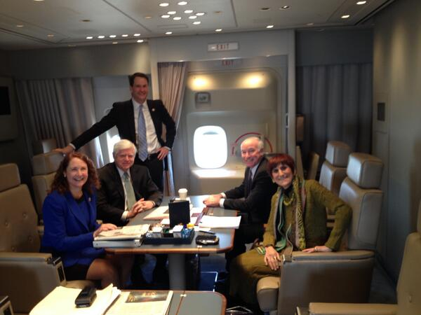 CT delegation crusin' on Air Force One…