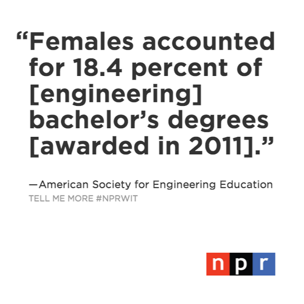 Q4: How can the US catch-up and graduate more female engineers? US 18.4% Latvia 30% #NPRWIT  http://t.co/rUXh0RkT5F http://t.co/OhV3gB1i4i
