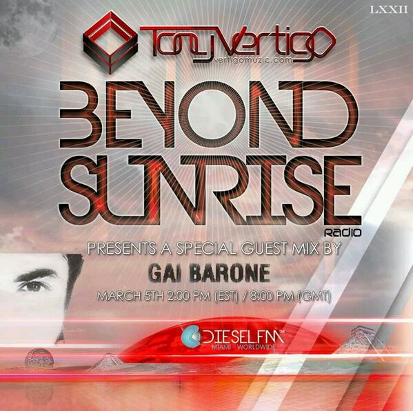 Make sure you catch @GaiBarone on guestmix duties for @VertigoMuzic in a few hours on Diesel FM!!! http://t.co/OpM2O2Zxyg