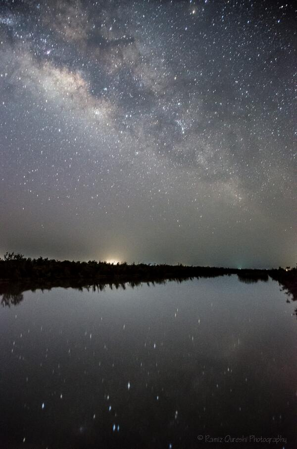 The absolutely splendid view above and below! The Milky Way in the lake - shot at a village in Pakistan http://t.co/cKDfwatjjI