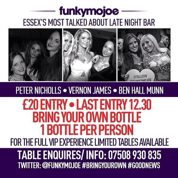 SATURDAY: Catch me @FunkyMojoe! @CassidyJames87 @KerryOReilly1 @JoeButler1_ @KellyWilbo12  #BringYourOwn #Essex #3AM http://t.co/shQJUxyQsq