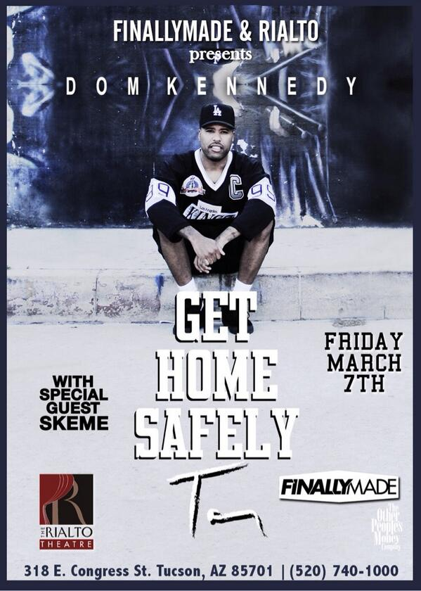 RETWEET & tag your friends in this tweet for a chance to win 2 tix  @DOPEITSDOM this friday @TheRialtoTucson #tucson http://t.co/jiD5PsB0ez