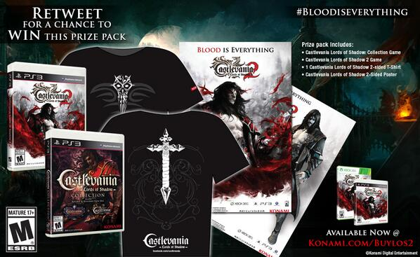 Lords of Shadow fans, this is our final #BloodisEverything Prize Pack giveaway for the PS3! RT to WIN now! http://t.co/LlOxWXKSjm