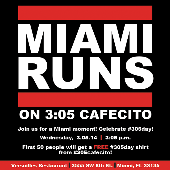 Live @305cafecito tonight discussing the 3/05 #305cafecito meet up @VersaillesMiami  Listen: http://t.co/9ItPphQi7L http://t.co/vK0MK4z9xS