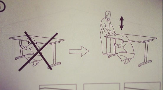 Accidentally tried to assemble an Ikea desk without a man. http://t.co/k2QbL4XhJk