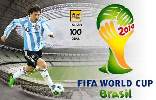 ¡Ahora sí! Siendo las 00.01 del martes 4 de marzo de 2014 podemos decir que faltan sólo #100DíasParaBrasil2014 http://t.co/019FxYOJ1n