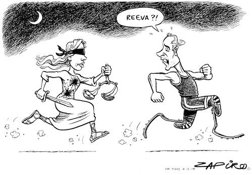 Today's Zapiro looks at the #OscarTrial with a chilling reminder about justice. #SouthAfrica http://t.co/ke3PHPxmcK