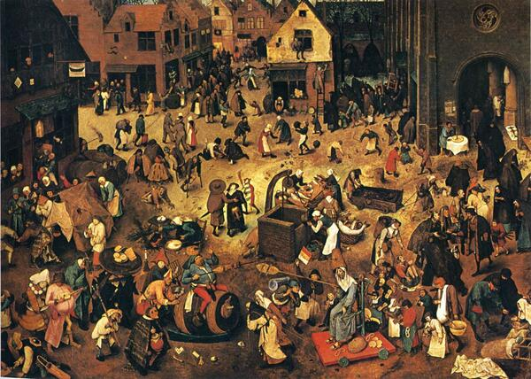 The Fight Between Carnival and Lent by Brueghel http://t.co/OK3ylrOXqO