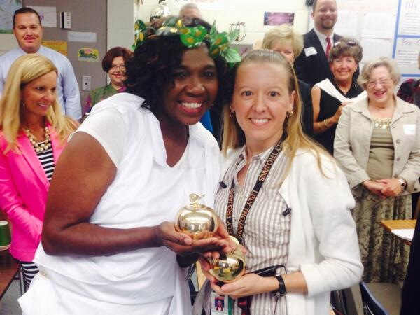 Big Golden Apple CONGRATULATIONS to both Mrs. Szczepanski and Mrs. Williams! #2ApplesForLely #WeAreLely http://t.co/UWeCnbSzAS