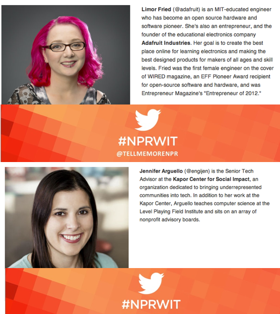 Thumbnail for #NPRWIT March 4: Limor Fried & Jennifer Arguello