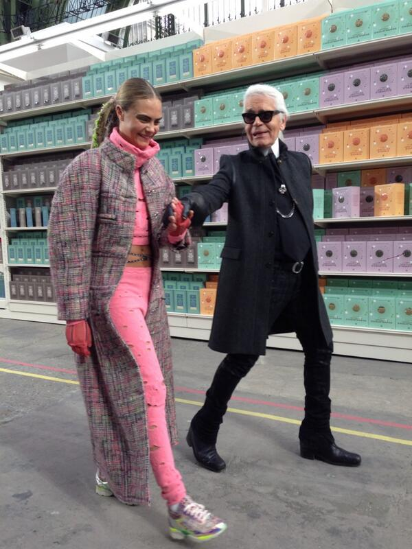 Most fun, beautiful, instagrammable, great spirited show in Paris! #chanel http://t.co/9MJkZcEu6i