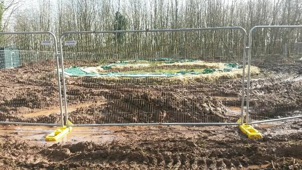 The beginnings of #BrynEryr, the new #CelticFarmstead which will be built at #StFagans with the help of #volunteers! http://t.co/sNVynQinLY