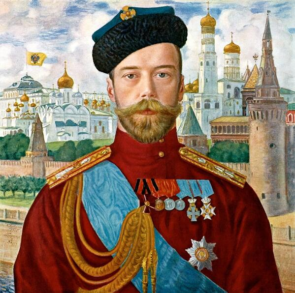 Борис Кустодиев «Император Николай II» ボリス・クストーディエフ『ニコライ二世の肖像』(1915)