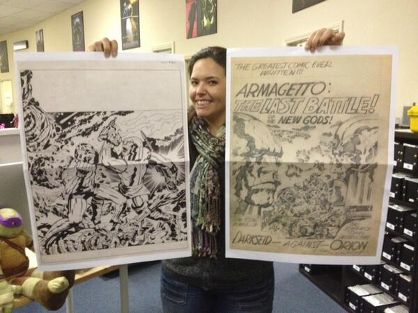 Jack Kirby New Gods Artist's Edition is coming—check out these super cool foldouts! http://t.co/VfNJpWj6RN