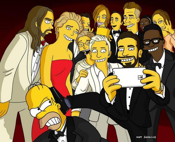matt groening is magical. #simpsons #oscars — http://t.co/t19C35IfvN