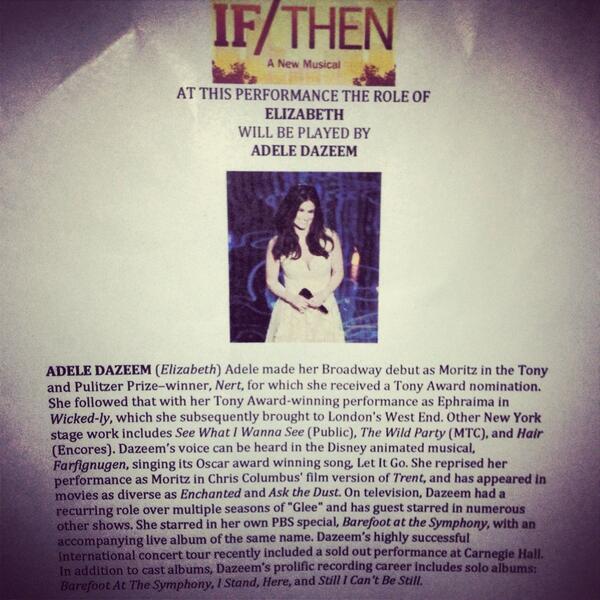 "... I have no words. RT""@janetkrupin: At this performance... #idinamenzel #adeledazeem http://t.co/IrxMCIQ8mI"""