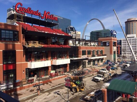 The #CardsNation sign is complete and several others have been installed today. #BallparkVillage http://t.co/dR4a1zyDfi