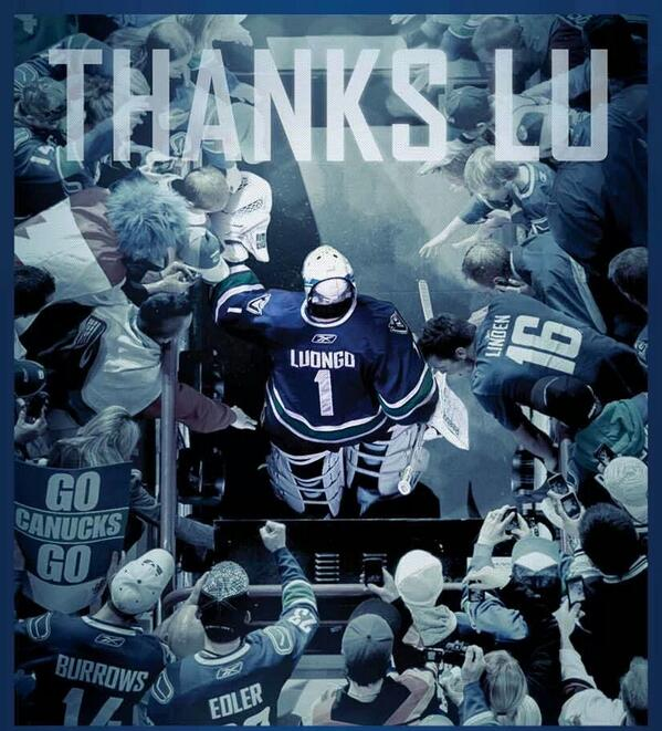 Thanks Luongo we'll miss you #NHL #Luongo #Canucks #NHLTrade http://t.co/FCs2kQ5FjI