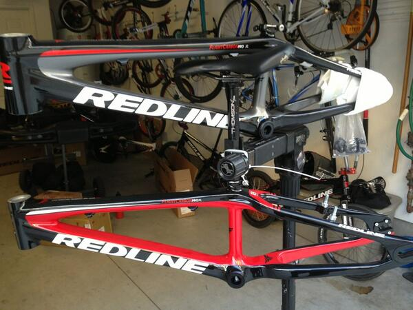 Alright tweeters this was worth the wait these new @redlinebicycles carbons are sweet.. Red or Grey? http://t.co/1OSCtf4uhP