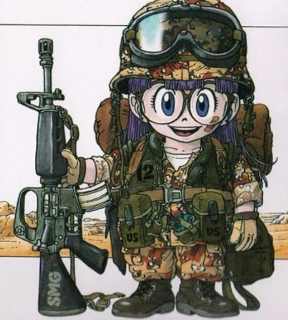 兵士のDr.スランプアラレちゃん