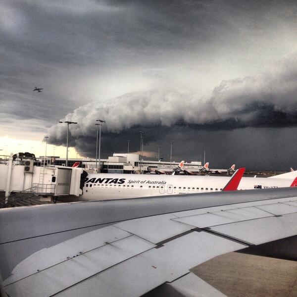 Bye #Sydney - sending me off with a thunderclap. @AshleeMullany http://t.co/urKecF0pXP